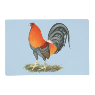 Gamecock Blue Red Rooster Placemat
