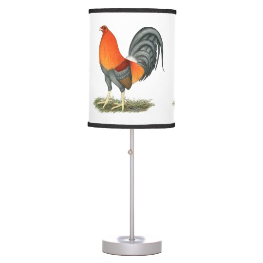 Gamecock Blue Red Rooster Table Lamp