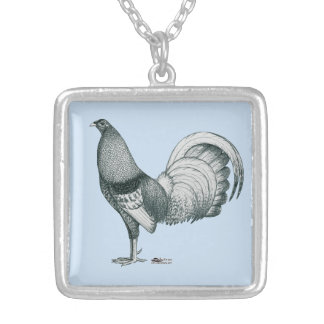 Gamecock Crele or Dom Silver Plated Necklace