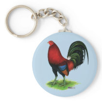Gamecock:  Dark Red Keychain