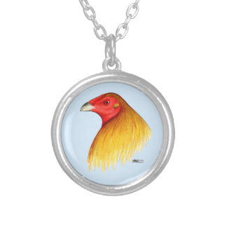 Gamecock Dubbed Round Pendant Necklace