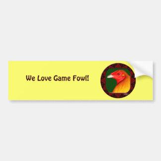 Gamecock Framed Bumper Sticker