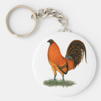 Gamecock Ginger Red Rooster Keychain