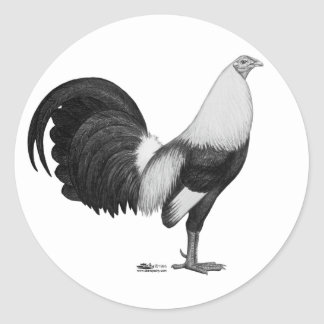 Gamecock Grey Duckwing Classic Round Sticker
