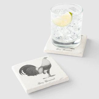 Gamecock Grey Duckwing Stone Coaster