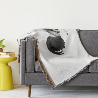 Gamecock Grey Duckwing Throw Blanket