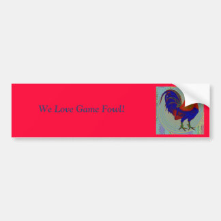 Gamecock:  Impressionist Rooster Bumper Sticker
