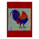 Gamecock:  Impressionist Rooster Greeting Cards
