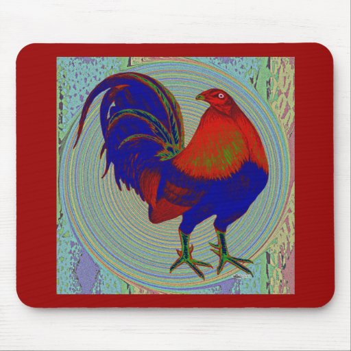 Gamecock:  Impressionist Rooster Mouse Pads