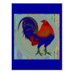 Gamecock:  Impressionist Rooster Postcard