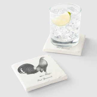 Gamecock Red Hatch Stone Coaster