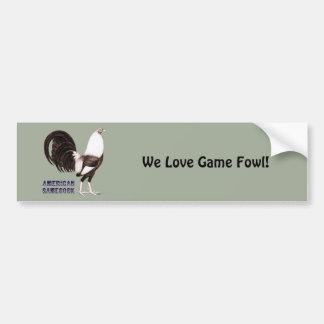 Gamecock Sepia Bumper Sticker