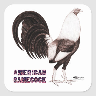 Gamecock Sepia Square Sticker