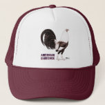 """Gamecock Sepia Trucker Hat<br><div class=""""desc"""">A fine specimen of American game fowl!  This silver duckwing rooster in sepia tones stands tall and proud.</div>"""
