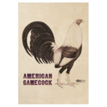 Gamecock Sepia Wood Poster