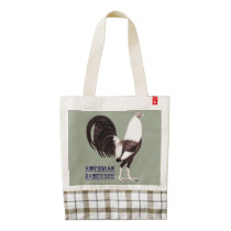 Gamecock Sepia Zazzle HEART Tote Bag