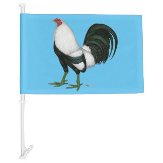 Gamecock Silver Duckwing Car Flag