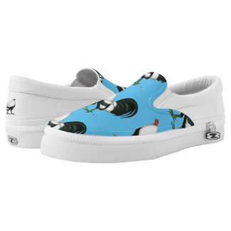 Gamecock Silver Duckwing Slip-On Sneakers