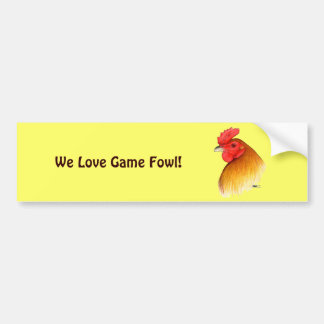 Gamecock Stag Pea Comb Bumper Sticker