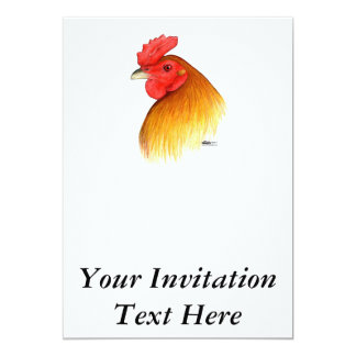 Gamecock Stag Pea Comb Card