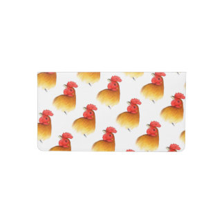 Gamecock Stag Pea Comb Checkbook Cover