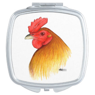 Gamecock Stag Pea Comb Compact Mirror