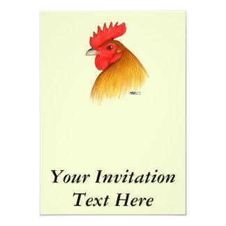 Gamecock Stag Single Comb Card
