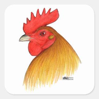 Gamecock Stag Single Comb Square Sticker