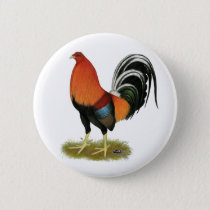 Gamecock Wheaten Rooster Pinback Button