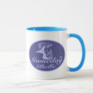 Gameday Belle Small Blue Ringer Mug