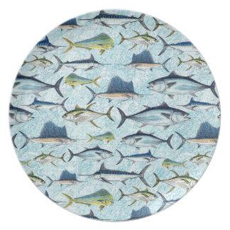 Gamefish del mundo plato de cena