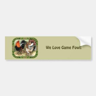 Gamefowl On the Farm Car Bumper Sticker