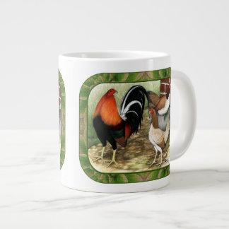 Gamefowl On the Farm Large Coffee Mug
