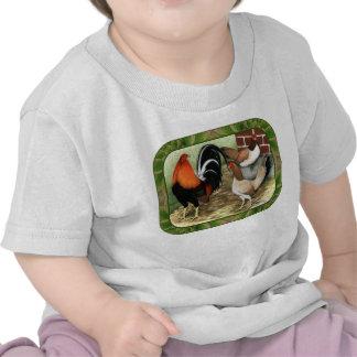 Gamefowl On the Farm T Shirt