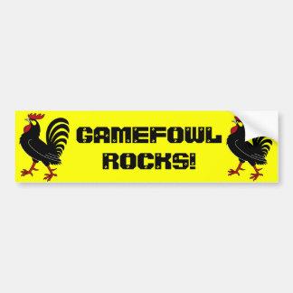 Gamefowl Rocks! Bumper Sticker Car Bumper Sticker