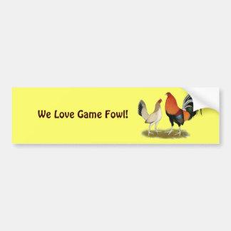 Gamefowl Wheatens Bumper Sticker