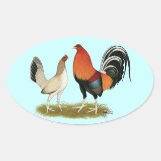Gamefowl Wheatens Oval Sticker