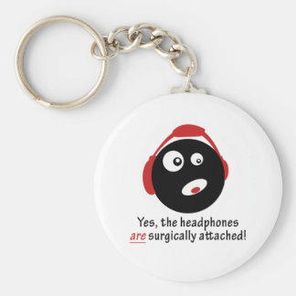 GameFYi Headphones Surgically Attached Keychain