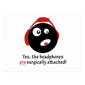 GameFYi Headphones Surgically Attached Postcard