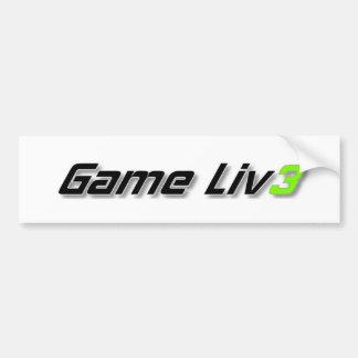 Gameliv3 Bumber Sticker Car Bumper Sticker