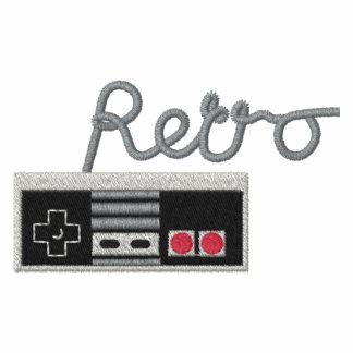 Gamepad retro camiseta polo bordada