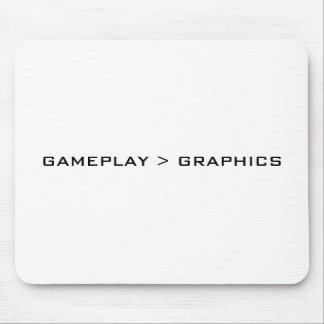 Gameplay > gráficos. Blanco negro Tapetes De Ratones