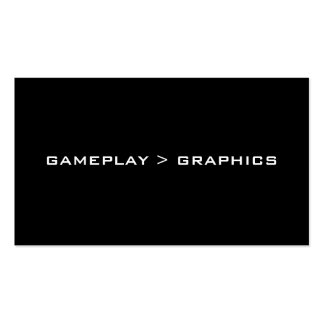 Gameplay gráficos Blanco negro Tarjetas De Visita