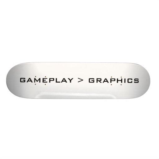 Gameplay > gráficos. Negro Monopatines Personalizados