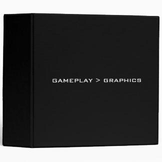 Gameplay > Graphics. Black White. 3 Ring Binder