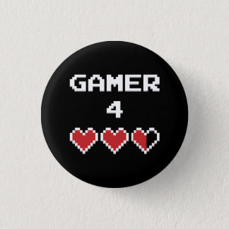 Gamer 4 Life Pinback Button