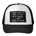 gamer attitude get life lots lives funny humor trucker hats