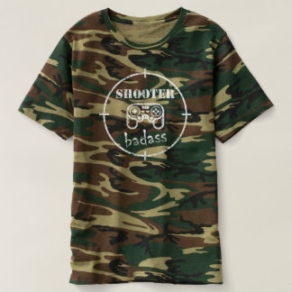 Gamer Badass: Shooter Video Games Military Shirt