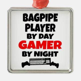 Gamer Bagpipe Player Metal Ornament