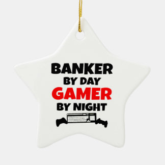 Gamer Banker Ceramic Ornament
